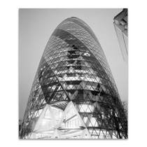 The London Gherkin at Night Wall Art Print