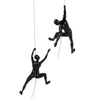 Poly Resin Climbing Couple C Black Gloss