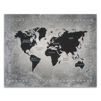 Riveting World Map Wall Art Print