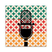 Microphone Music Retro Wall Art Print