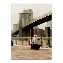 New York Man at the Brooklyn I Wall Art Print