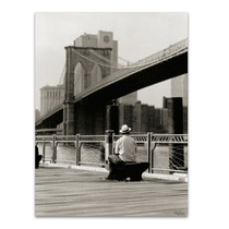 New York Man at the Brooklyn II Wall Art Print
