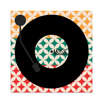 Vinyl Music Retro Wall Art Print