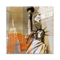 New York One Way Wall Art Print
