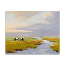 Grazing Cattle Wall Art Print