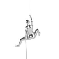 Poly Resin Climbing Woman D Steel