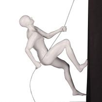 Poly Resin Climbing Man B White