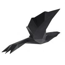 Poly Resin Origami Flying Bird Large Matte Black