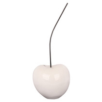 Poly Resin White Cherry Small Ornament