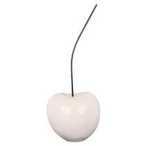 Poly Resin White Cherry Medium Ornament