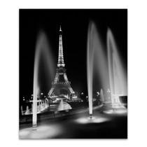 Eiffel Tower Fountains Wall Art Print