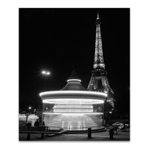 Eiffel Tower Merry Go Round Wall Art Print