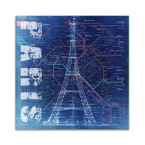 Paris Blue Wall Art Print