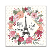 Paris is Blooming IV Wall Art Print