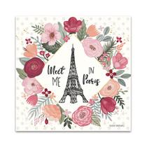 Paris is Blooming V Wall Art Print