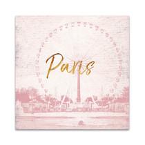 Pink Paris Wall Art Print