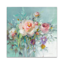 Summer Garden Roses Wall Art Print