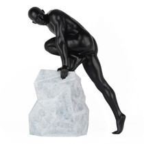 Poly Resin Sensuality Sculpture Matte Black