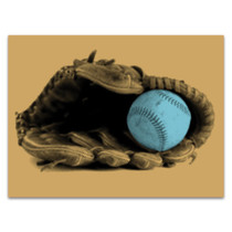 Baseball and Glove Wall Art Print