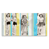 Vintage Roller Skating Wall Art Print