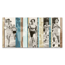 Vintage Running Wall Art Print