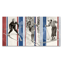 Vintage Skiing Wall Art Print