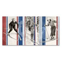 Vintage Skiing Wall Art Print