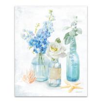 Beach Cottage Florals II Wall Art Print