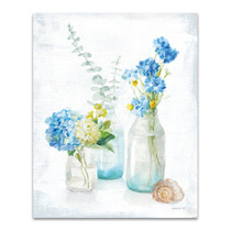 Beach Cottage Florals III Wall Art Print