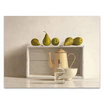 Five Pears on Box Wall Art Print
