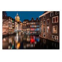 Amsterdam by Night Wall Art Print