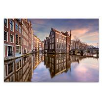 Sunset Over Amsterdam Wall Art Print