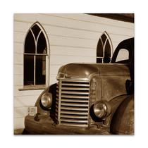 Fire Truck and Church Wall Art Print
