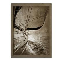 Sailing in Sepia C Wall Art Print