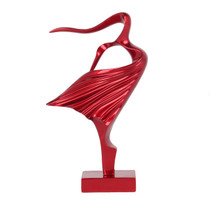 Poly Resin Lucette Woman Metallic Red 25cm