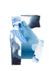 Cerulean Assemblage IV Wall Art Print