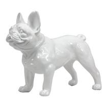 Poly Resin French Bulldog White