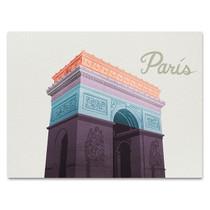 Colorful Paris Wall Art Print