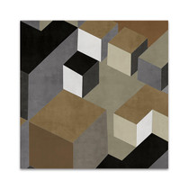 Cubic in Neutral II Wall Art Print