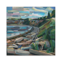 Early Morning on the Beach Wall Art Print