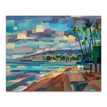Morning Moon Over Waikiki Wall Art Prin