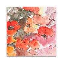 Red Bloom Wall Art Print