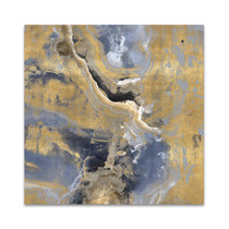 Stone With Gold and Gray I Wall Art Print