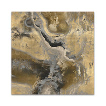 Stone With Gold and Gray II Wall Art Print
