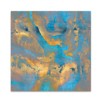 Stone with Turquoise and Gold Wall Art Print
