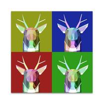 Polygonal Deer Head Wall Art Print