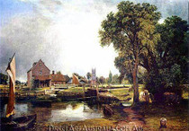 John Constable | Dedham Lock and Mill