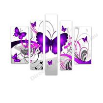 Butterflies in Purple