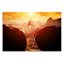 Jump on Mountain Art Print