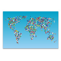 Human Globalization Wall Art Print